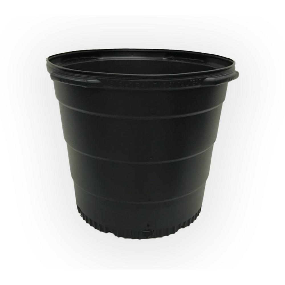 15 Gal Plastic Round Nursery Trade Pots With Saucers 5 Pack