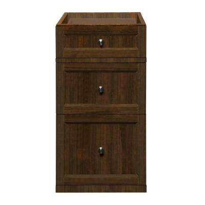 Jordan 15 in. W x 21.13 in. D x 29.50 in. H Drawer Console in Mahogany