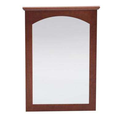 Melborn 22 in. x 31 in. Framed Vanity Mirror in Chestnut