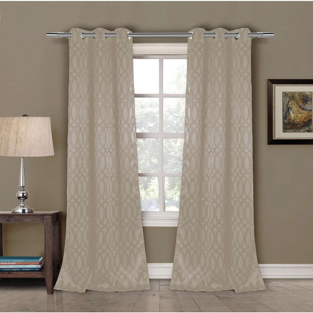 Duck River Blackout Tayla 84 in. L Blackout Grommet Panel in Taupe (2-Pack)