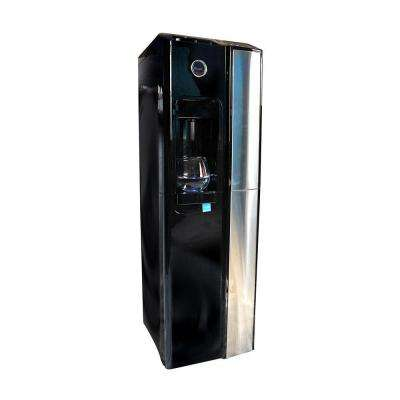 Standup Bottleless Water Cooler in Gloss Black with Sediment, Pre Carbon, UF and Post Carbon Filters