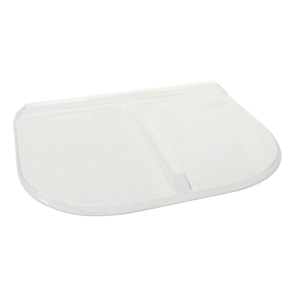 35 in. x 26 in. Polycarbonate U-Shape Window Well Cover