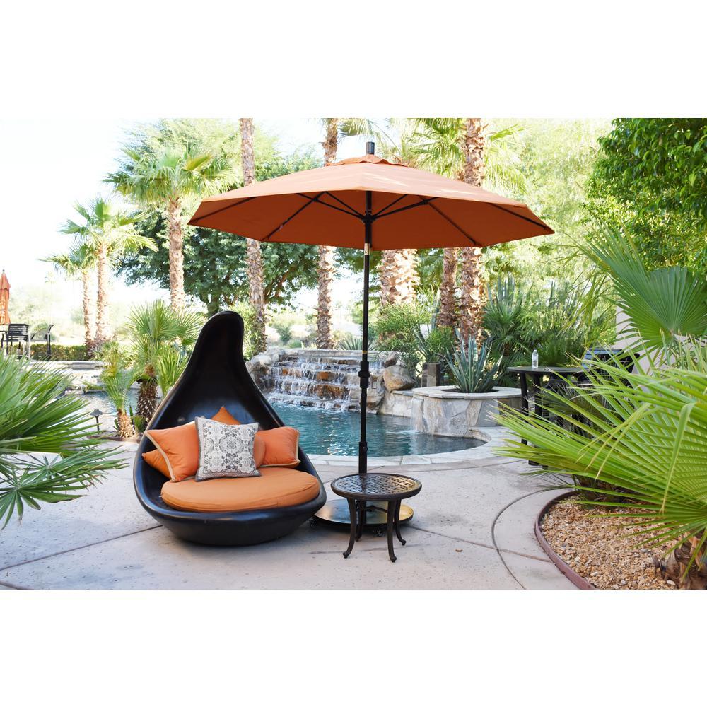 California Umbrella 9 Ft Fiberglass Collar Tilt Patio Umbrella In Spa Pacifica Gscuf908170 Sa13 The Home Depot