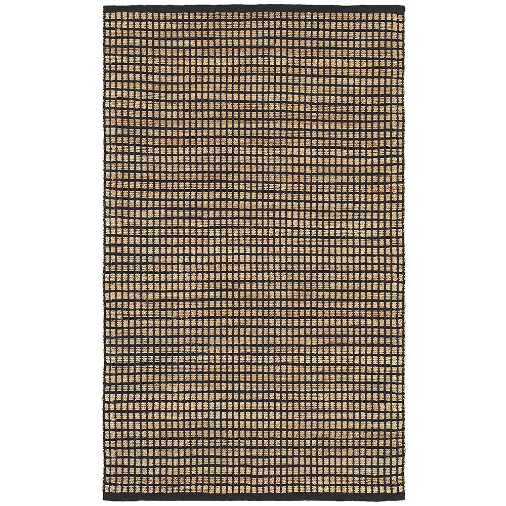 LR Resources Natural Fiber Kiana Anthracite 8 ft. x 10 ft. Indoor Area Rug