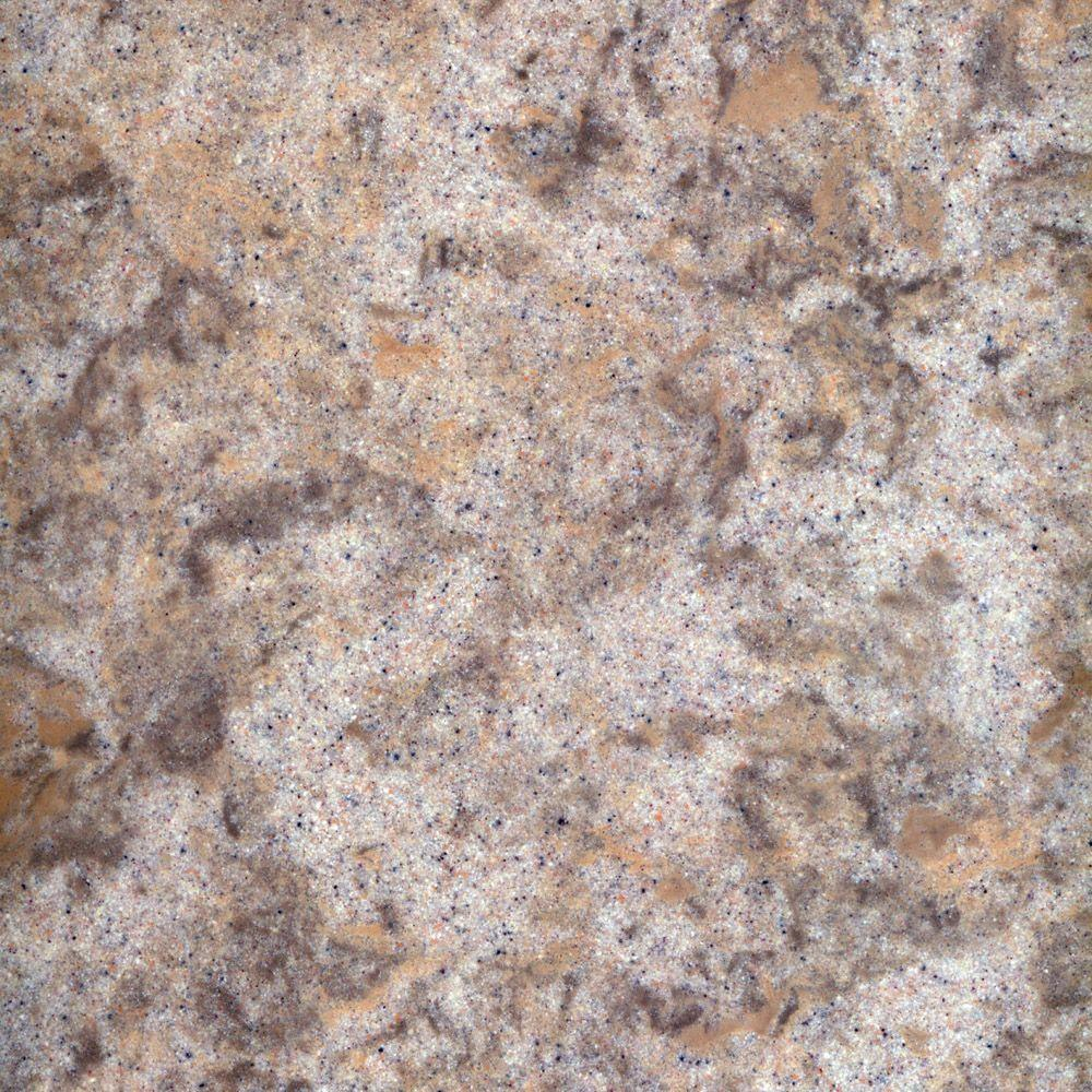 US Marble 3 in. Cultured Granite Vanity Top Sample in Fawn