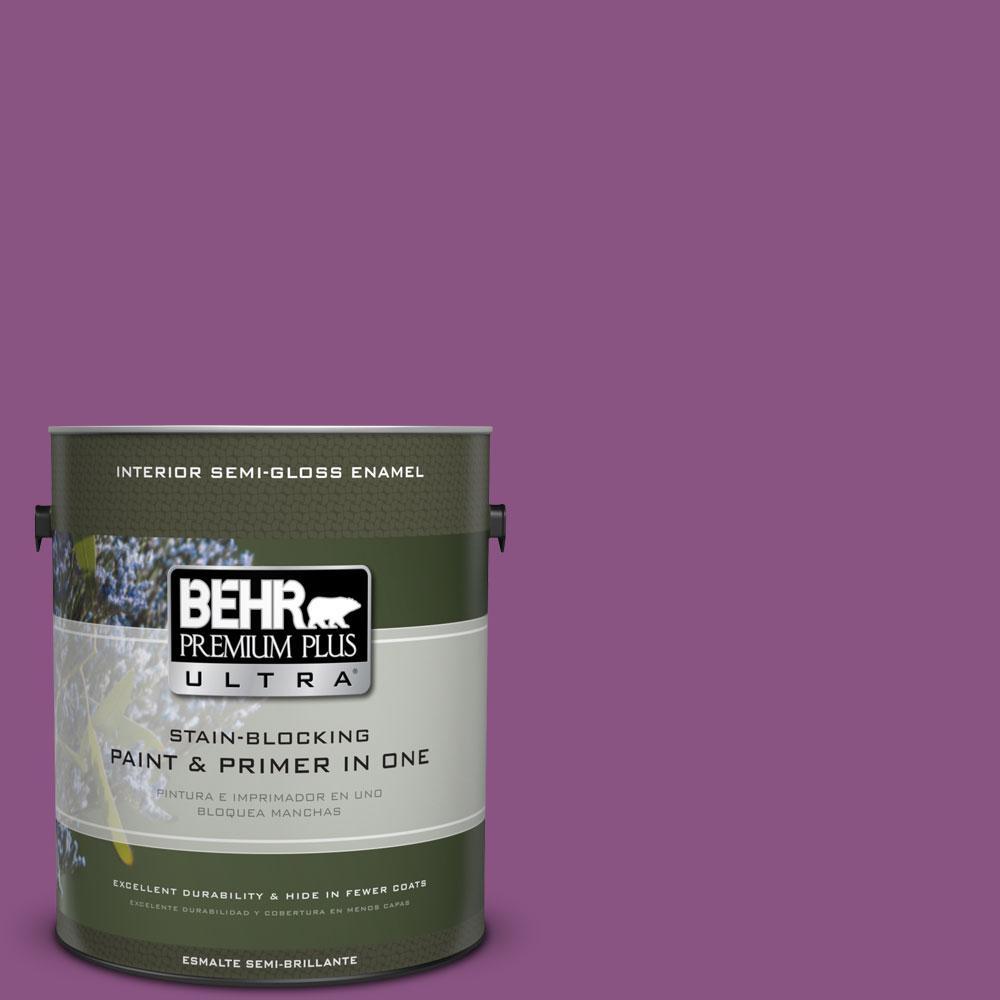 BEHR Premium Plus Ultra Home Decorators Collection 1-gal. #HDC-MD-07 Dynamic Magenta Semi-Gloss Enamel Interior Paint