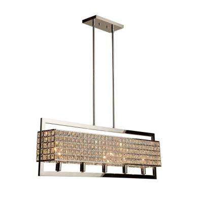 Cambria 5-Light Chrome Island Light
