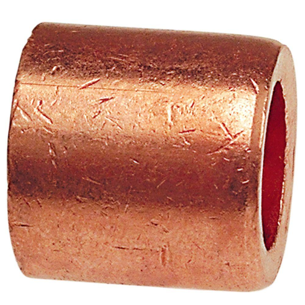 Everbilt 1/2 in. x 3/8 in. Copper FTG x Cup Male Flush Bushing Fitting