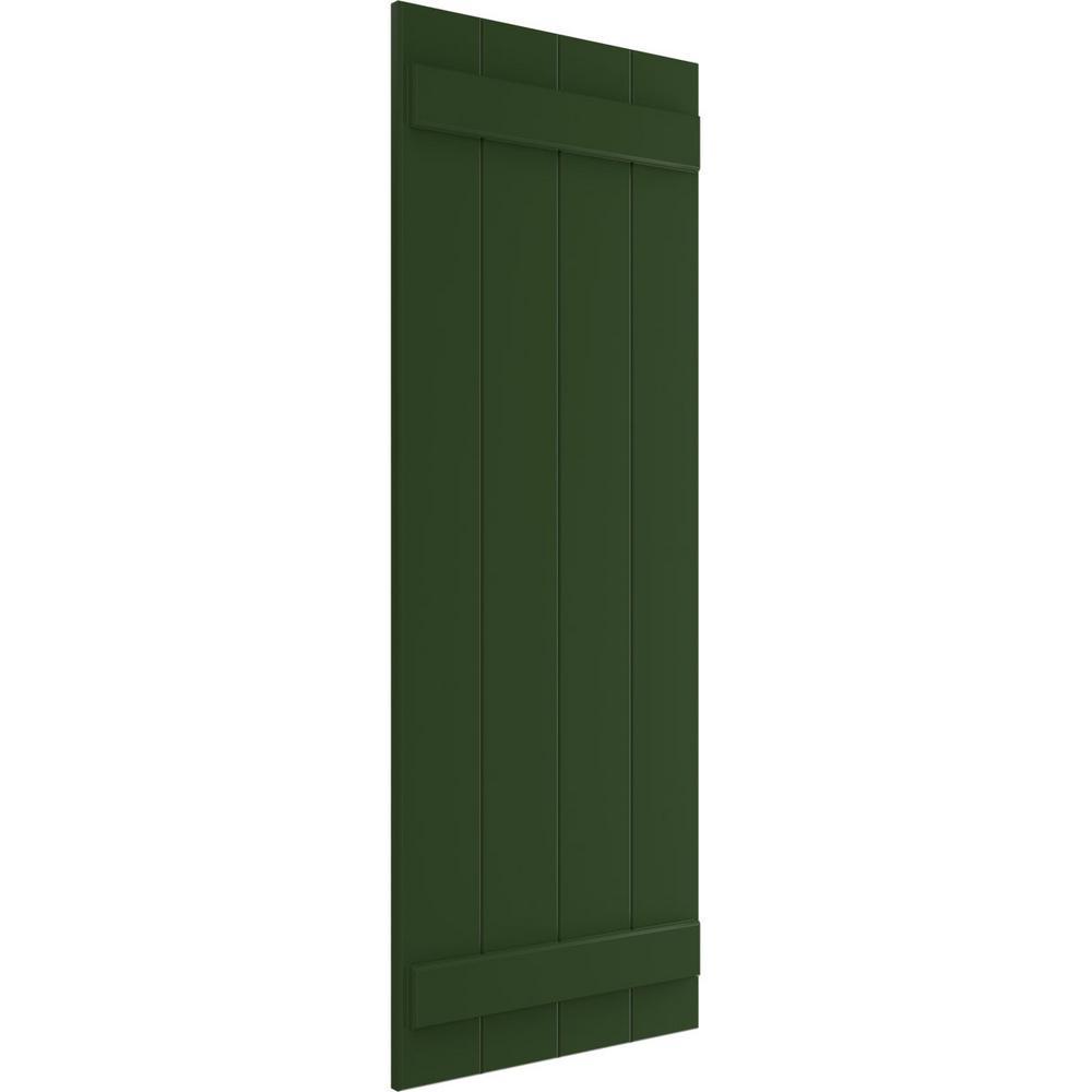 Ekena Millwork 21 1 2 X 36 True Fit Pvc Four Board Joined Board N Batten Shutters Viridian Green Per Pair 1573754 The Home Depot