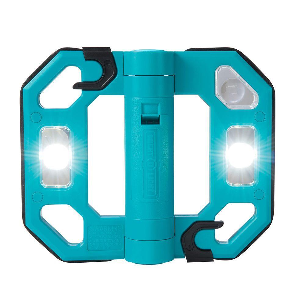200-Lumen Mini Compact Folding LED Work Light - Teal