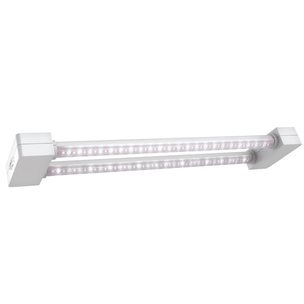 2 ft. 2-Light 30-Watt White Full Spectrum Daylight LED Non-Dimmable Indoor Linkable Plant Grow Light Fixture