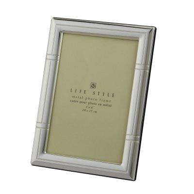 Sp 4 in. x 6 in. Reed Border Lacquer Picture Frame