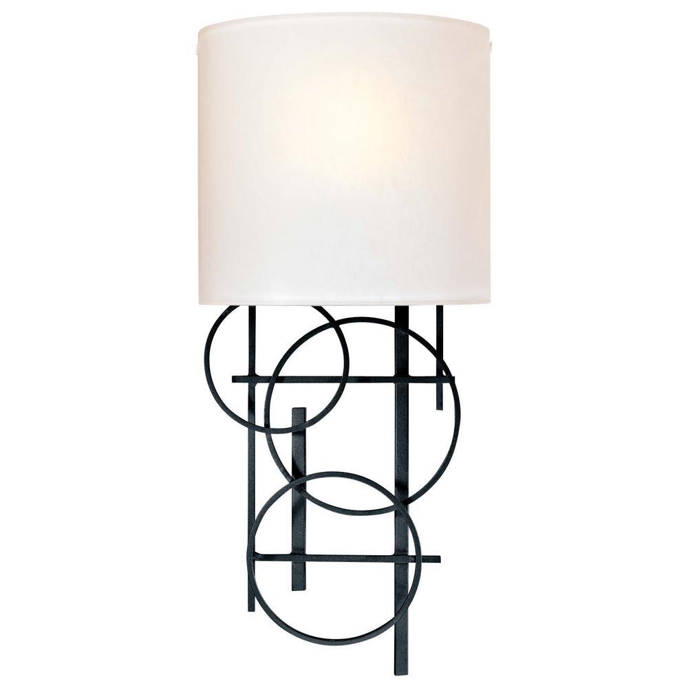 1-Light Black Wall Sconce