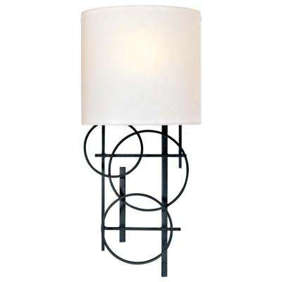 1-Light Black Wall Sconce