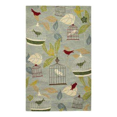 Aviary Blue 9 ft. x 12 ft. Area Rug