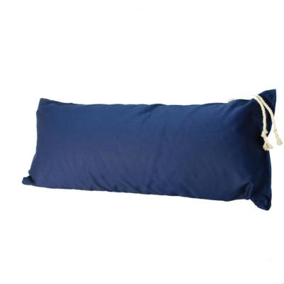 33 in. Navy Blue Deluxe Polyester Hammock Pillow