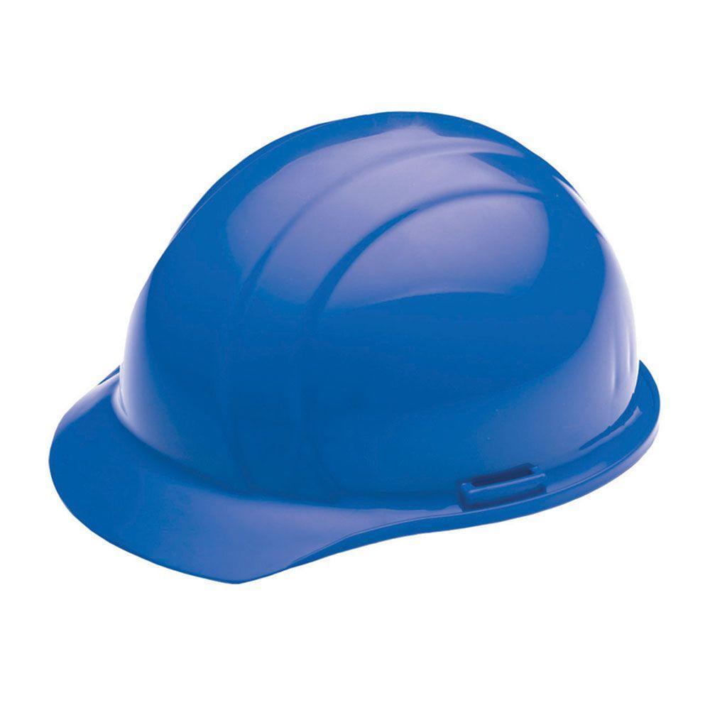 Liberty 4 Point Plastic Suspension Slide-Lock Cap Hard Hat in Blue