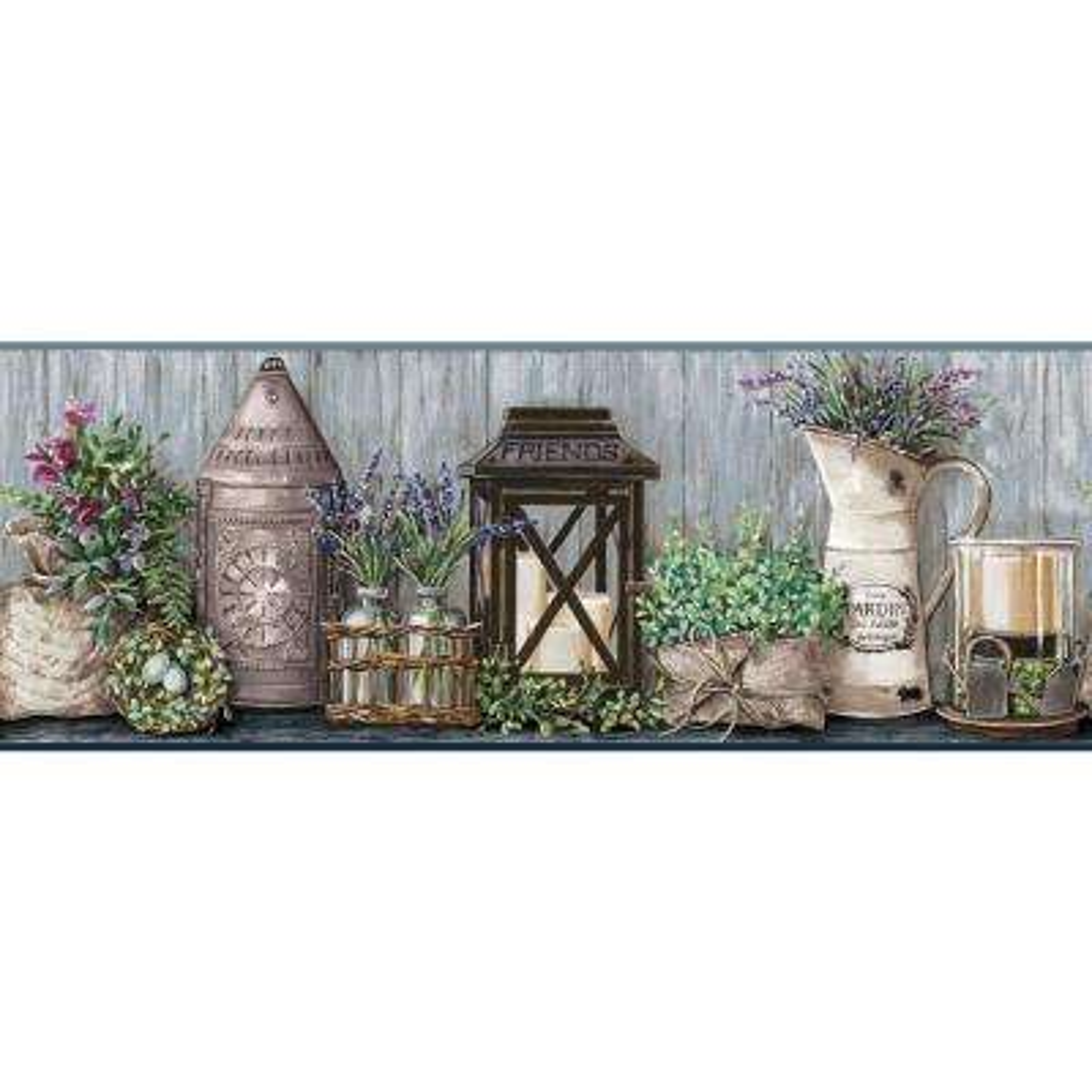 Country Keepsakes Garden Wallpaper Border