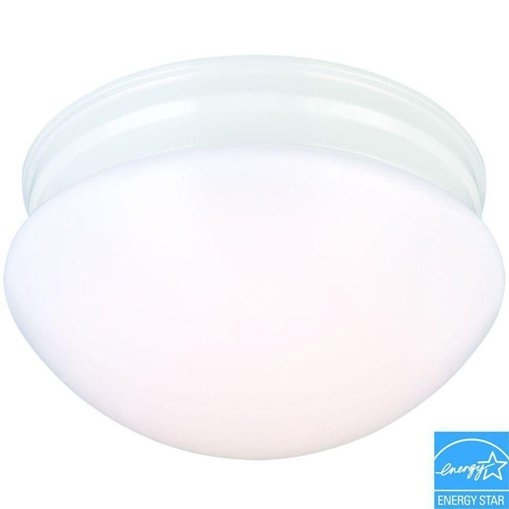 White LED Mushroom Flushmount