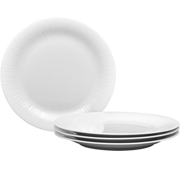 10-3/4 in. Conifere Rim Dinner Plates (Set of 4)