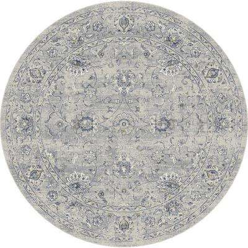 Ancient Garden Silver/Grey 5 ft. Round Area Rug