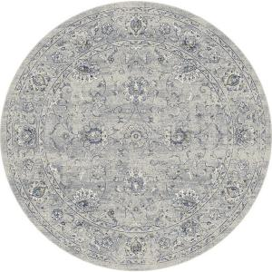 Dynamic Rugs Ancient Garden Grey/Silver 7 ft. 10 inch Round Area Rug by Dynamic Rugs