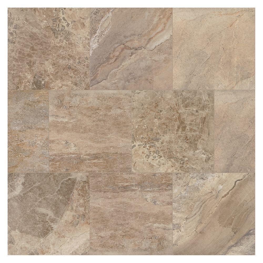 MARAZZI Developed by Nature Moka 24 in. x 24 in. Glazed Porcelain ...