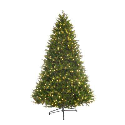 7.5 ft. Pre-Lit LED PREMIUM Miracle Shape Northern Forest Artificial Christmas Tree with 700 White LED Lights