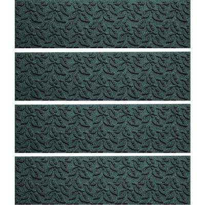 Evergreen 8.5 in. x 30 in. Dogwood Leaf Stair Tread Cover (Set of 4)