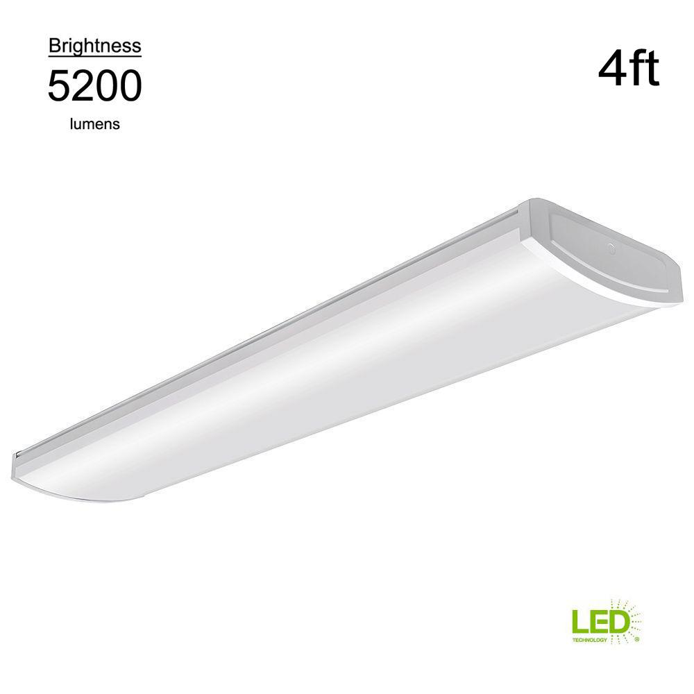 Commercial Electric High Output 4 Ft White 5200 Lumen 4000k