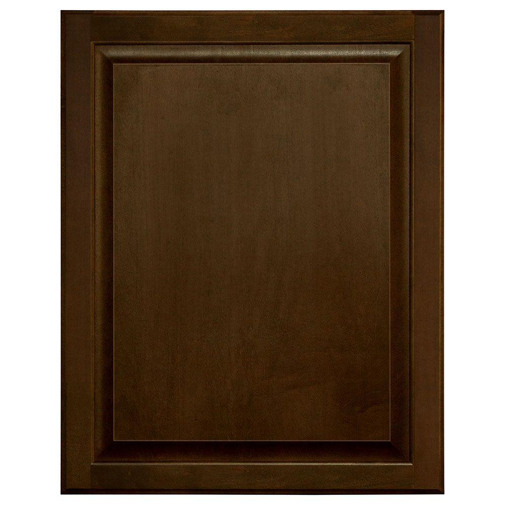 0.625x30x23 in. Hampton Base Cabinet Decorative End Panel in Cognac