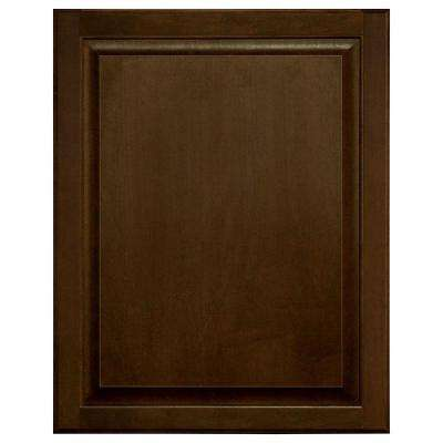 0.75x27.75x22 in. Hampton Base Cabinet Decorative End Panel in Cognac