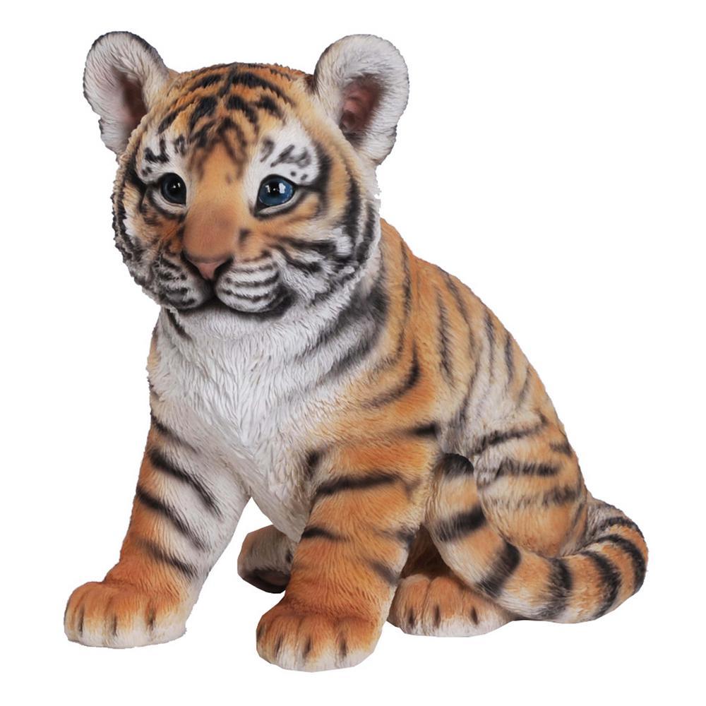 Tiger Baby Sitting Statue