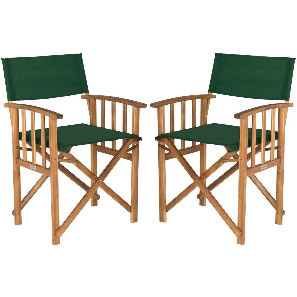 Safavieh Laguna Teak And Green Folding Directoru0027s Chair (Set Of ...