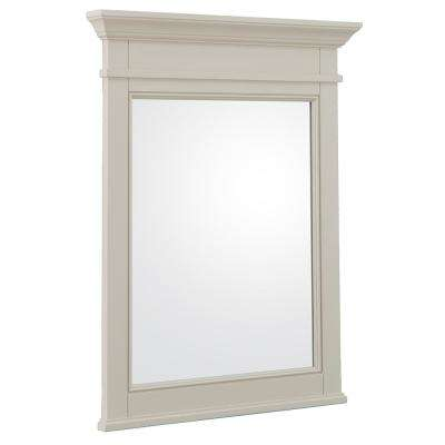 Braylee 24 in. W x 32 in. H Single Framed Wall Mirror in Rainy Day
