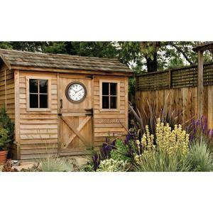 Infinity Instruments Craftsman 18 inch W x 18 inch L Round Outdoor Wall Clock by Infinity Instruments