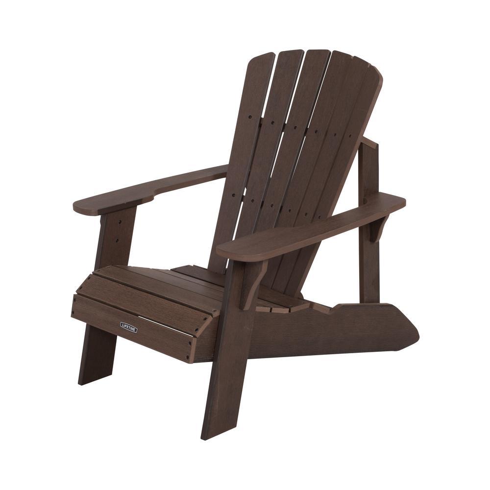 Rustic Brown Adirondack Chair