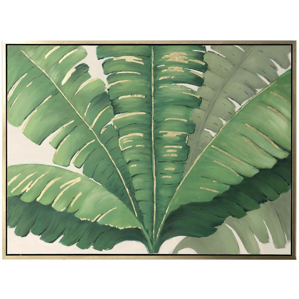 StyleCraft Tropical Gold Canvas, Wood Framed Wall Art, Green was $299.85 now $108.72 (64.0% off)