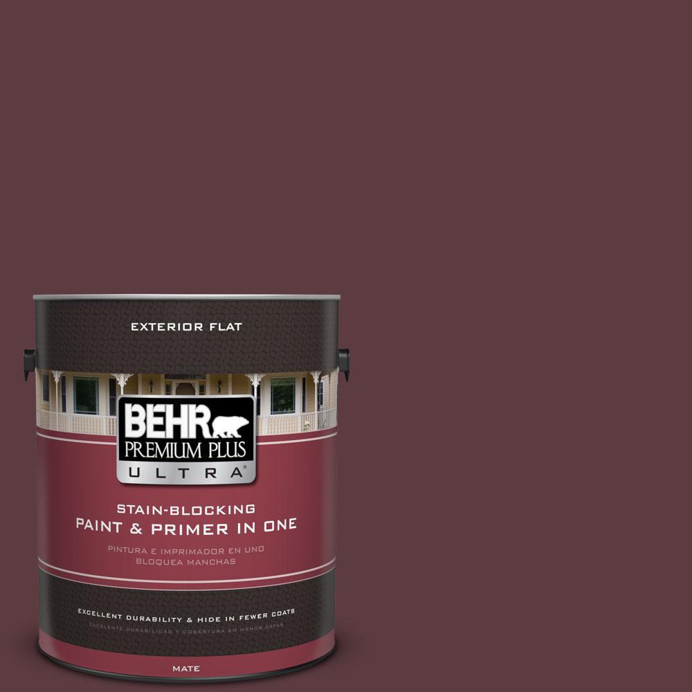 1-gal. #110F-7 Deep Garnet Flat Exterior Paint