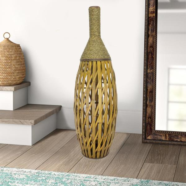 Shelly Brown Bamboo Decorative Vase