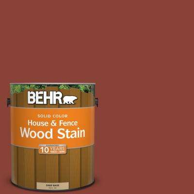 1 gal. #PPF-30 Deep Terra Cotta Solid House and Fence Wood Stain