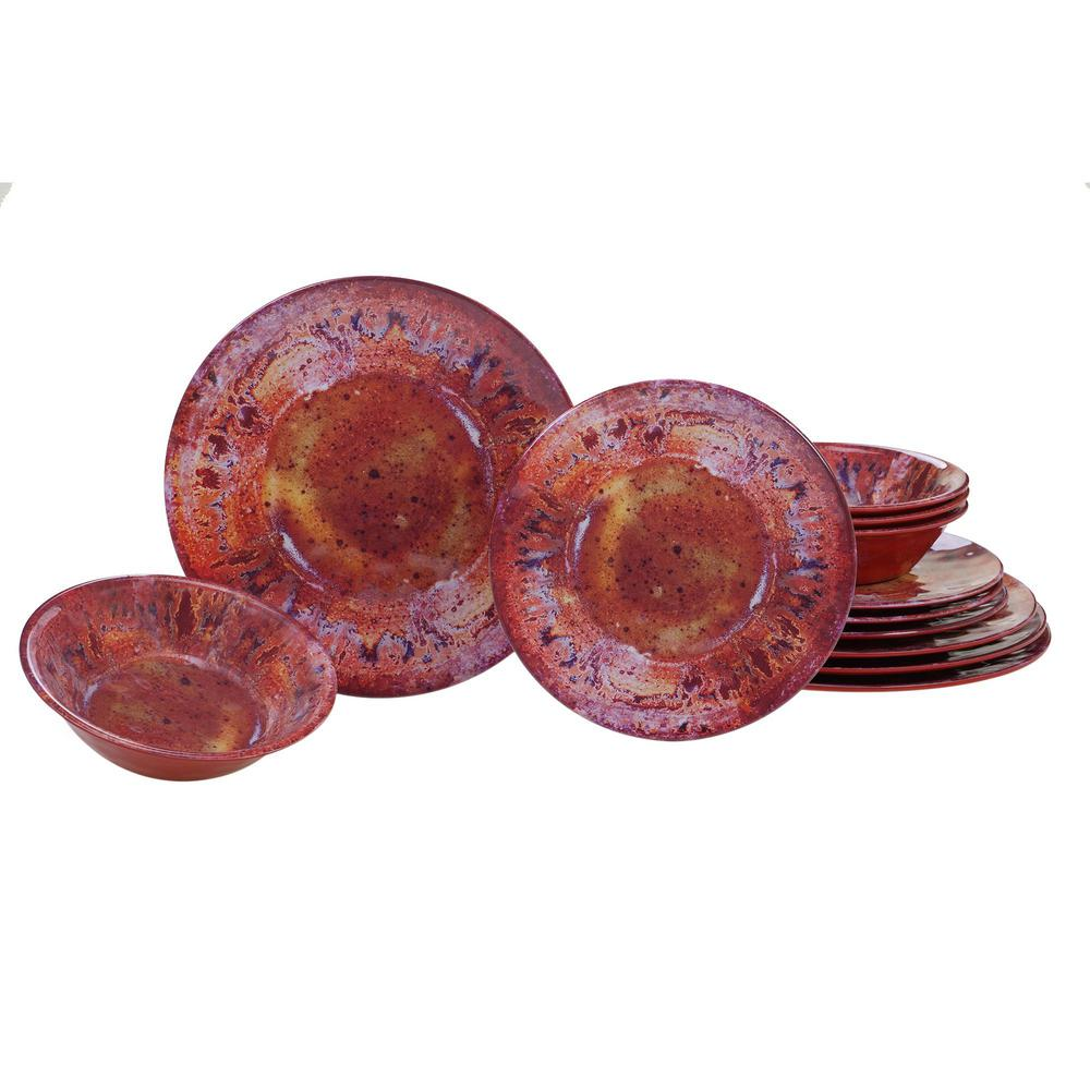 Radiance 12-Piece Multicolor Dinnerware Set