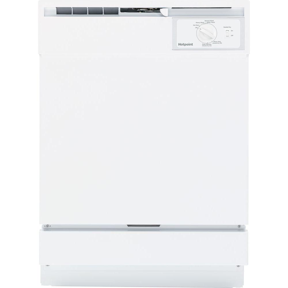 Hotpoint Front Control Dishwasher in White, 64 dBA