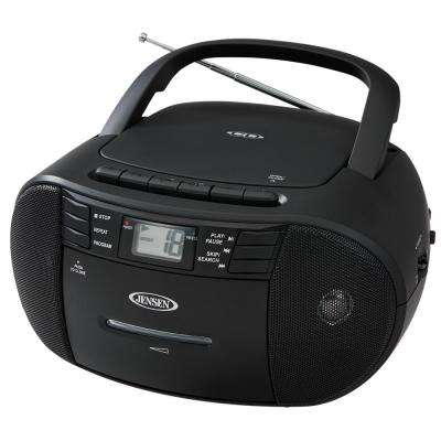 CD-545 Portable Stereo CD Player with Cassette Recorder and AM/FM Radio
