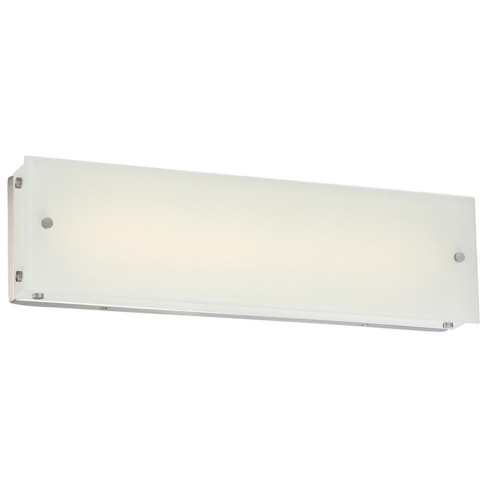 Button 27-Watt Brushed Nickel Integrated LED Bath Light