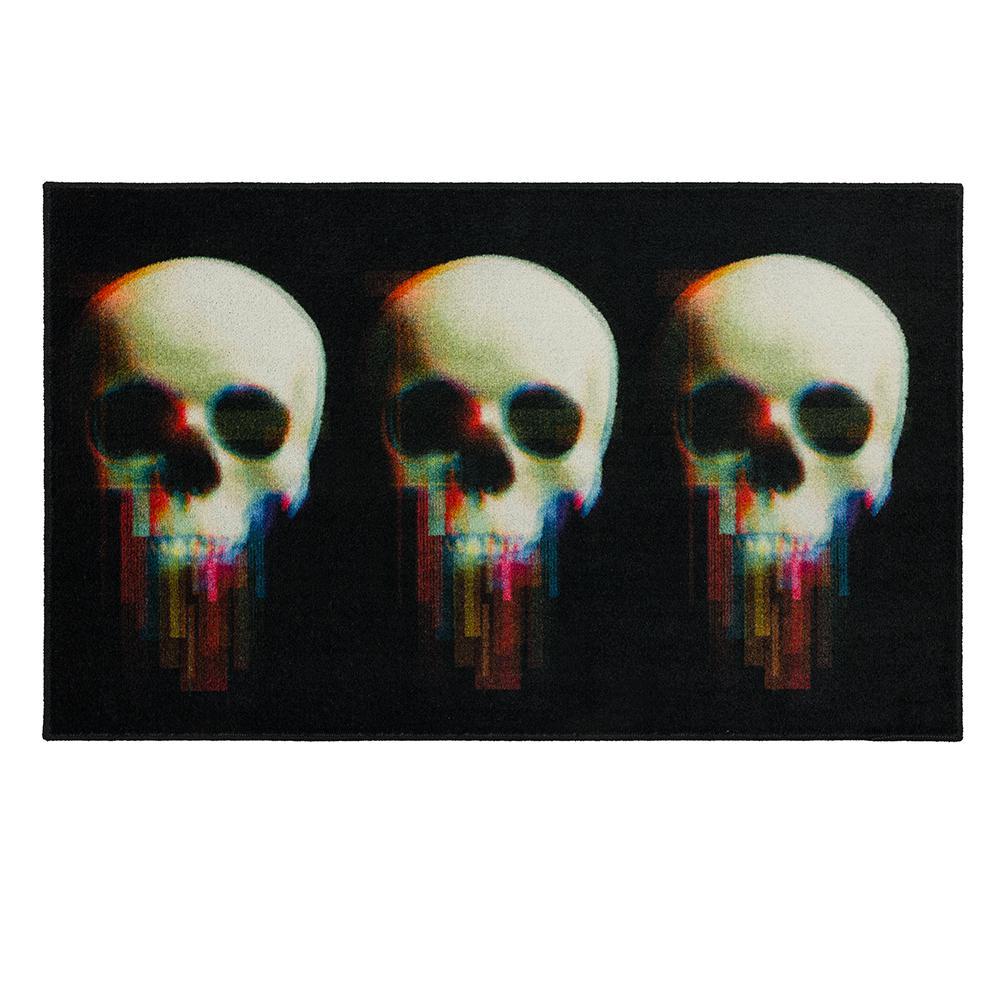 Mohawk Home Digital Skulls Black 2 ft. 6 in. x 4 ft. 2 in. Halloween Indoor Area Rug, Black/ White/ Cream/ Pink/ Blue/...