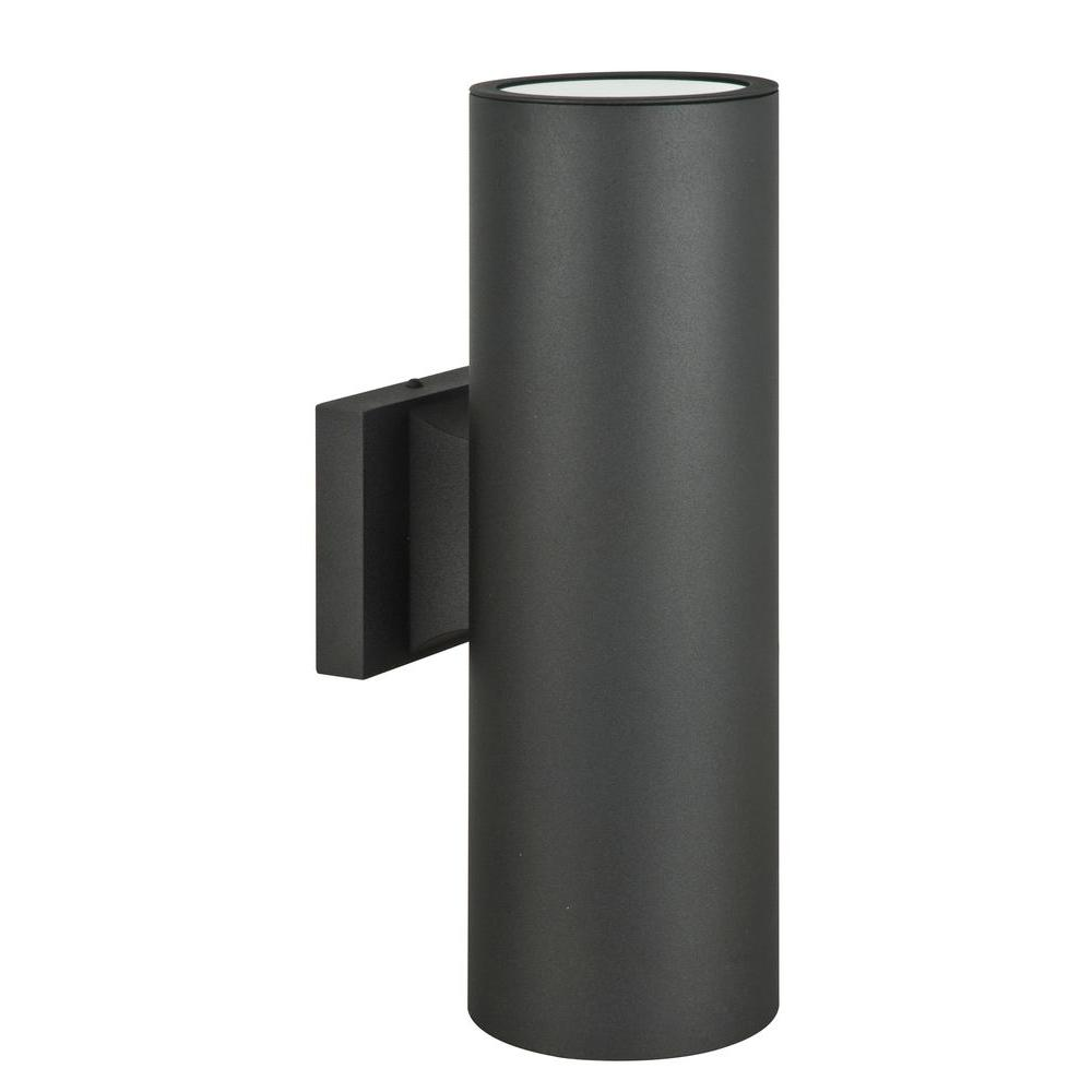 Luminance Architectural Exterior 2 Light Black Wall Sconce