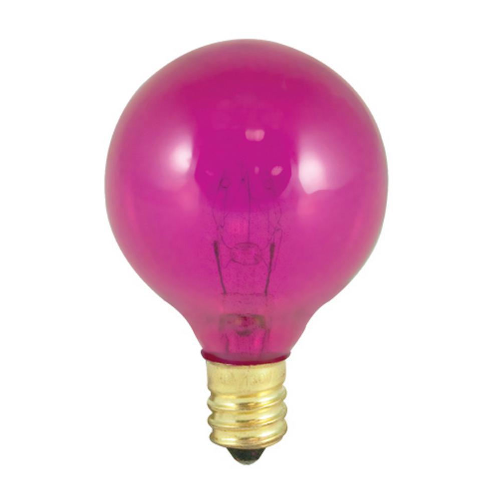 10-Watt G12 Transparent Pink Dimmable Incandescent Light Bulb (25-Pack)
