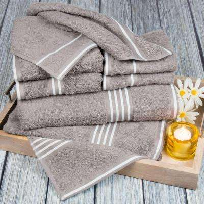 Rio Egyptian Cotton Towel Set in Silver (8-Piece)