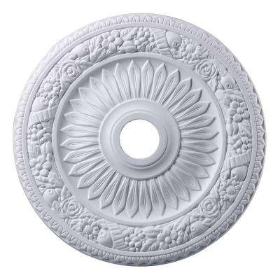 Floral Wreath 24 in. White Ceiling Medallion